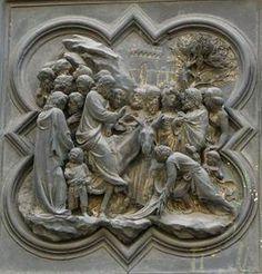 Рельефные композиции северных и восточных ворот флорентийского баптистерия Лоренцо Гиберти