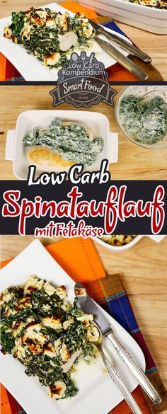 Spinach bake with feta and chicken breast. (A low carb dish for the whole day) - Spinach bake with feta and chicken breast. (A low carb dish for the whole day) – Spinach is a gre - Low Carb Recipes, Diet Recipes, Chicken Recipes, Healthy Recipes, Spinach Bake, Spinach Casserole, Law Carb, Le Diner, Low Carb Diet