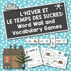 French Winter + Sugaring Off: Word Wall and Vocabulary Games Small Group Games, Small Groups, Vocabulary Activities, Vocabulary Words, Hello Teacher, Winter Words, A Kind Of Magic, Core French, French Classroom