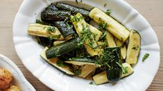 Roast courgettes with lemo image