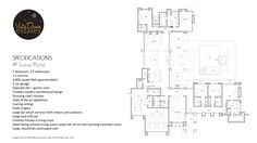 Floor Plan And Specifications For #1 Luxus Place