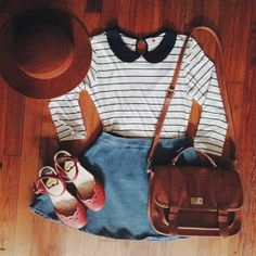{stripes and a pop of red}