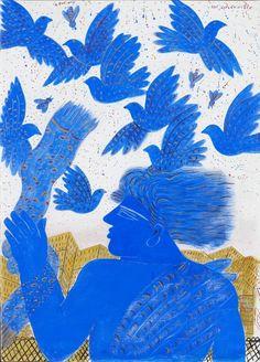 Vol sur la ville Alecos Fassianos Oil on Canvas x in. Painter Artist, Artist Art, Greece Painting, Hawaiian Art, Greek Art, Classical Art, Blue Art, Art Day, Modern Art