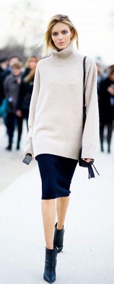 Paris Fashion Week A/W 2014 Street Style