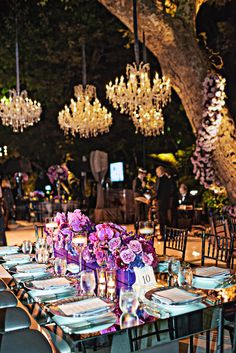 A Glamorous Hotel Bel Air Wedding We cannot get enough of this stunning Hotel Bel Air wedding! From the gorgeous bridesmaids dresses to the magical outdoor reception, this wedding is every bride's dream! Mark's Garden added a variety of white florals and greenery throughout the ceremony, including hanging white roses, a gorgeous archway full of roses, orchids and hydrangea and rustic fence posts with touches of white flowers lining the aisle.