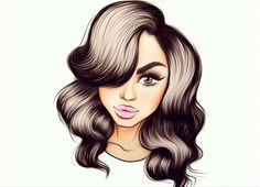 Brows, Lashes, Fashion Model Drawing, Pop Characters, Arte Pop, Illustrations, Working Woman, Cute Little Girls, Art Girl