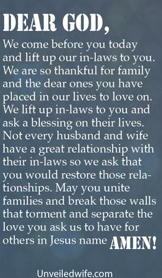 Prayer Of The Day – In-Laws by @unveiledwife