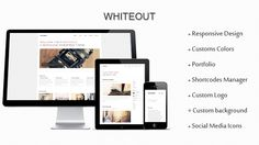 WhiteOut is a business/portfolio responsive WordPress Theme, it will automatically fits your screen size and looks just as great on the iPhone as it does on the desktop. Easily customizable via the WordPress Admin Interface, upload your own logo, background , change the color of the theme in one click. , Built-in swipe support for your portfolio, images and video. WhiteOut can be used as a Business site , Portfolio or as a Blog.