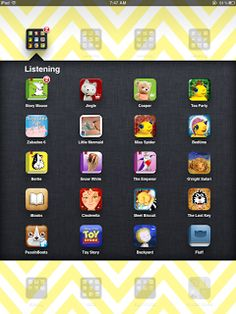Apps for listening center