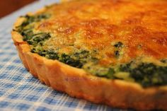Spinach and cheese quiche Mi Diario de Cocina Vegetable Salad, Vegetable Dishes, Vegetable Recipes, Vegetarian Recipes, Cooking Recipes, Healthy Recipes, Quiches, Cheese Quiche, Spinach And Cheese