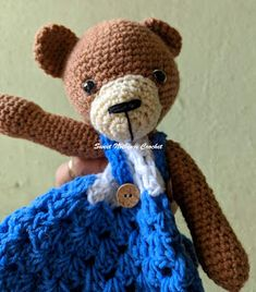 4bb47888bc9d0 Sweet Nothings Crochet CUDDLY TEDDY BABY LOVEY