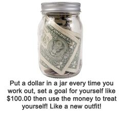 Doing this!!!!! Saving for a new swim suit for summer. Hopefully in 90 days I'll be swim suit ready! Considering a cute swim suit costs about 90 dollars!