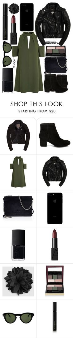 """""""The Cover Up – Jackets by Superdry: Contest Entry"""" by j-n-a ❤ liked on Polyvore featuring Superdry, Steve Madden, Topshop, NARS Cosmetics, Gucci, Kevyn Aucoin, CÉLINE and Illamasqua"""