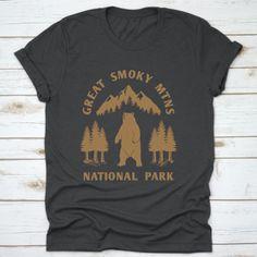 Great Smoky Mountains National Park Bear Tee Gift T-Shirt  #greatsmoky #nationalpark