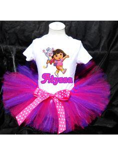 Dora the Explorer Tutu Birthday Outfit by PrettyAsAPrincess2, $29.99
