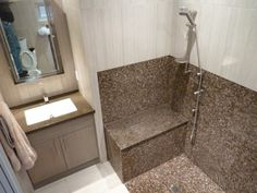 Wheelchair-Accessible Bathroom #AccessibleBathroomDesigns >> Find more tips at http://www.disabledbathrooms.org/wheelchair-accessible-bathroom.html