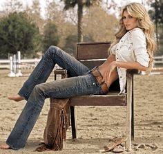 Marissa Miller for True Religion Jeans - I would like to have her hair, her body and her jeans;)