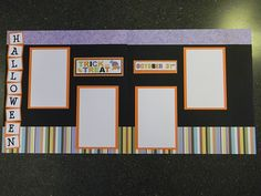 Halloween Scrapbook Pages - Organize and Decorate Everything Christmas Scrapbook Layouts, Halloween Scrapbook, Disney Scrapbook, Scrapbook Page Layouts, Scrapbook Cards, Scrapbooking Ideas, Fall Crafts, Diy Crafts, Thing 1