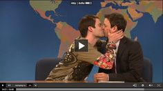 I love Bill Hader as Stefan, I loveLOVELOVE Seth Meyers, and I love Stefan kissing Seth for like, a really long time. LOLOL  ...Also, I am really jealous of Bill Hader. ~.^