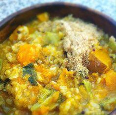 Digestive Kitchadi with Pumpkin and Broccoli