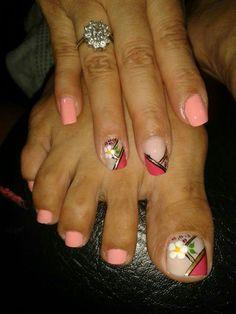 Toe Nail Art, Toe Nails, Colorful Nails, Nail Arts, Nail Colors, Diana, Beauty, Pretty Nails, Enamel