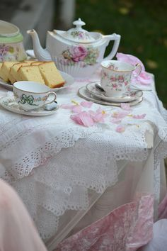 Pretty Marie Antoinette Tea Party.....see my blog for full story.