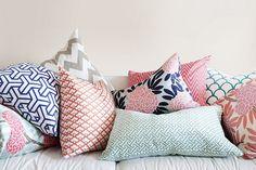 Decoration, Coral Pillows Design: The Unique Of Coral Pillows