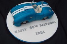 Birthday cake made for a gentleman who owns a AC Cobra car