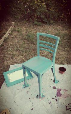#DIY#chair#silla#blue&violet#chalkppaint#village#decoracion#arteadhoc#espejo#handmade#artesanal#vintage#reciclaje