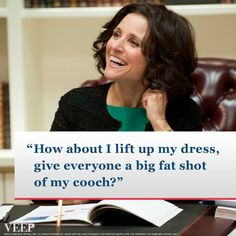 Veep, she really looks way to dainty to say this stuff. Https://www.facebook.com/veep