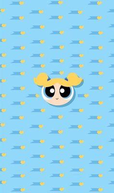 The powerpuff girls🐚🌊💙 Powerpuff Girls Wallpaper, Cute Disney Wallpaper, Kawaii Wallpaper, Girl Wallpaper, Cartoon Wallpaper, Mobile Wallpaper, Wallpaper Backgrounds, Iphone Wallpaper, Bubbles Powerpuff Girls