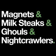 Magnets & Milk Steaks & Ghouls & Nightcrawlers T-Shirt. Name the character. Charlie from It's Always Sunny in Philadelphia. #AlwaysSunny #funnyshirt