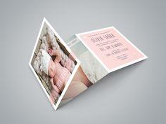 Geboortekaartje Olivia | new born fotografie | foto | baby | meisje | zacht roze | hartjes | bijzonder formaat | uniek kaartje | Studio Altena