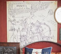 Cosplay Harry Potter HARRY POTTER™ Hogwarts™ Map Canvas Art - Deck out drab walls with an aerial map of the finest school for students of magic. Sketched details make this a Harry Potter must-have for any curious little marauder. Harry Potter Shop, Harry Potter Facts, Harry Potter Characters, Harry Potter Books, Harry Potter Hogwarts, Pottery Barn Kids, Pottery Art, Harry Potter Nursery, Harry Potter Cosplay