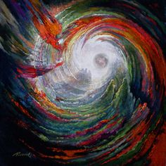 "ENERGIES OF CREATION Oil on Canvas - 30"" x 30""   © 2009    Rassouli Art Studio"