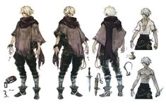 Therion Concept Art - Octopath Traveler Art Gallery - Therion Concept Art from Octopath Traveler - Game Character Design, Fantasy Character Design, Character Design Animation, Character Design Inspiration, Character Art, Cover Design, Anime Elf, Bloodborne Art, Octopath Traveler