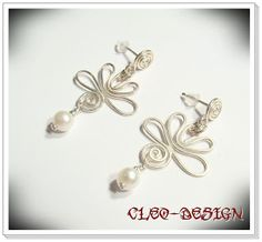 Aluminum Wire Jewelry Earrings Open Circle Hoop Swirls by leisab
