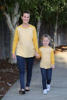 Pullover and hoodie instant downloadable sewing pattern for ladies and girls. Multiple views and options. Such a quick and easy sew for fall.