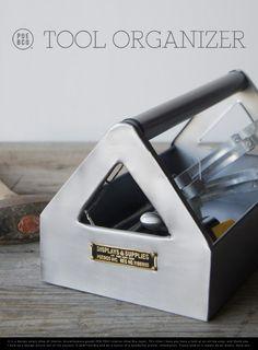 【楽天市場】STEEL TOOL ORGANIZER / スチール ツール オーガナイザーPUEBCO プエブコ 工具箱 工具 ケース スチール 小物入れ:interior shop Nia (ニア)