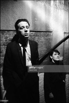 Jim Kerr and Charlie Burchill of Simple Minds posed backstage at The Venue, London, 3rd March 1981.