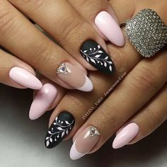 New Must Try Fall Nail Designs And Ideas - Page 17 of 56 - ladynailstyle Diy Nails, Cute Nails, Pretty Nails, Nail Design Spring, Nails Only, Pink Nail Art, Diy Nail Designs, Oval Nails, Stylish Nails