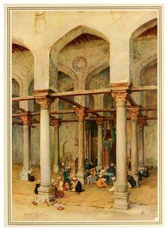 Ecole arabe - An artist in Egypt - Walter Tyndale 1912