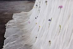 Living Divider: Draped Flowers Curtain by Akane Moriyama for Umé Studio   Yellowtrace