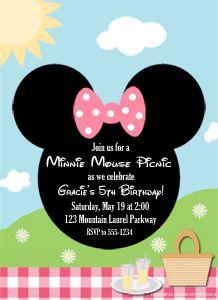 Minnie Mouse Picnic Invitation