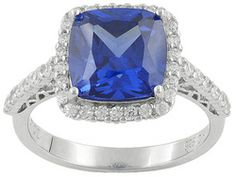 Bella Luce (R) Esotica (Tm) 5.49ctw Rhodium Plated Sterling Silver Ring
