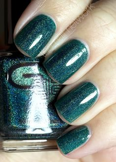 The Nail Network: Glitter Gal Teal Green