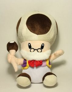 "Amazon.com: Super Mario Brothers 10"" Grandpa Toad Plush: Toys & Games"