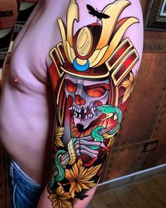 Forget about old-school tattoos; in the contemporary era, new college tattoos are severely the solely outlet for unequalled flair. Geisha Tattoos, Geisha Tattoo Design, Japan Tattoo Design, Oni Tattoo, Irezumi Tattoos, Japanese Tattoo Art, Japanese Tattoo Designs, Tattoo Designs Men, Neo Traditional Art