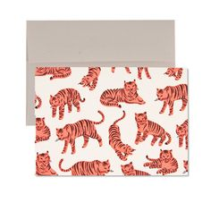 Neon Tigers! Card | Printed on Recycled Paper with Envelope