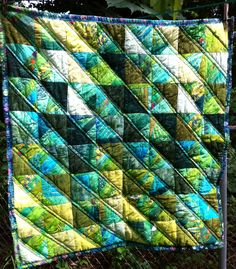 QUILT FOR SALE-Scrappy HST finished end of May 2015 Car seat/ stroller size 32x32 Machine quilted. Jenn-Alabama